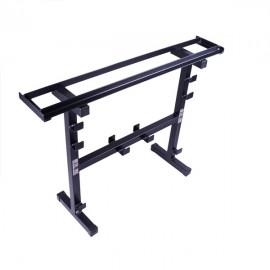 STOJAK NA HANTLE i GRYFY - szerokość półki 140mm