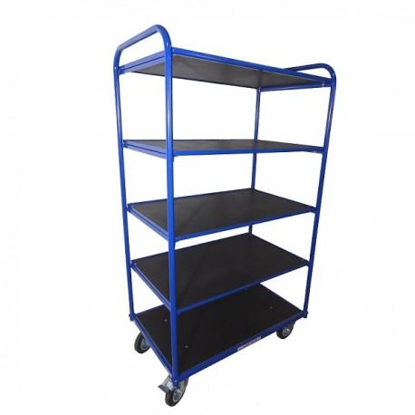 Wózek platformowy 5 półek URANOS 80x60 cm  W5P8060GMN