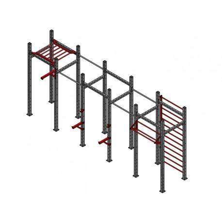 Klatka treningowa 5 modułów, Brama Crossfit