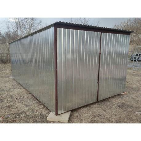Garaż blaszany ocynkowany 3x5